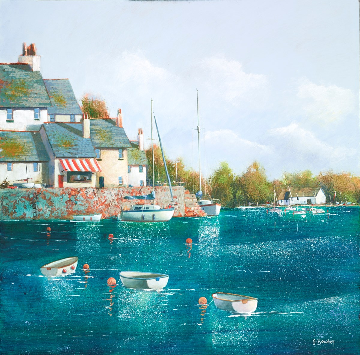 Compass Stores by steve bowden -  sized 16x16 inches. Available from Whitewall Galleries